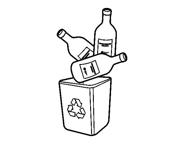 Coloriage de le recyclage du verre pour colorier - Verre coloriage ...