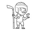 Dibujo de Lecteur Ice hoquei