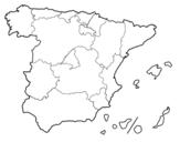 Dibujo de  Les Communautés autonomes d'Espagne