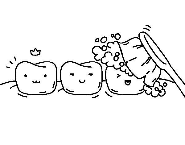 Coloriage de les dents pour colorier - Dessin de dent ...