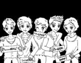 <span class='hidden-xs'>Coloriage de </span>Les garçons de One Direction à colorier