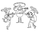 <span class='hidden-xs'>Coloriage de </span>Les Mariachis à colorier