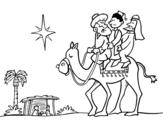 <span class='hidden-xs'>Coloriage de </span>Les trois Rois Mages à colorier