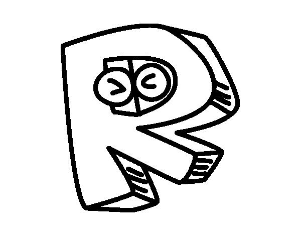 Coloriage de lettre r pour colorier - Lettres majuscules a colorier ...
