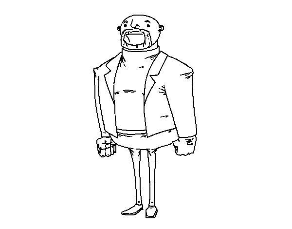 Coloriage de L'homme moderne habillé pour Colorier