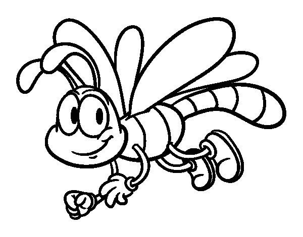Coloriage de libellule heureux pour colorier - Photo de libellule a imprimer ...