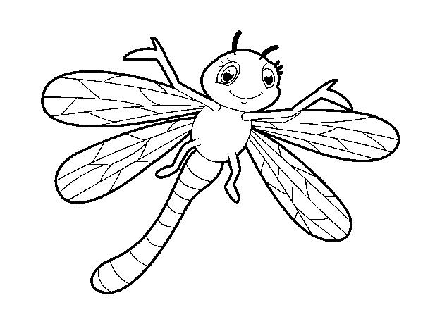 Coloriage de libellule nourrisson pour colorier - Photo de libellule a imprimer ...