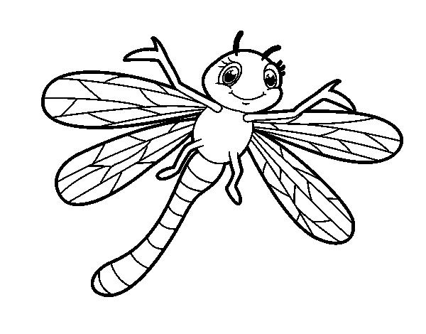 Coloriage de libellule nourrisson pour colorier - Libellule dessin ...