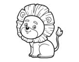 <span class='hidden-xs'>Coloriage de </span>Lion jeune à colorier