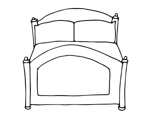 coloriage de lit pour colorier. Black Bedroom Furniture Sets. Home Design Ideas
