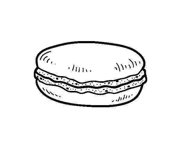 Coloriage de Macaron pour Colorier