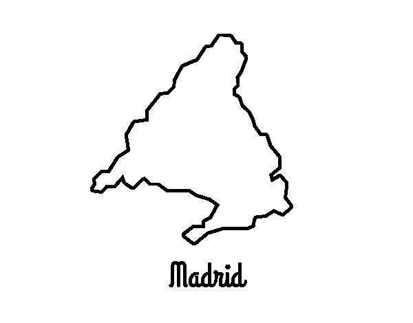 Coloriage de Madrid pour Colorier
