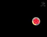 <span class='hidden-xs'>Coloriage de </span>Maillot de la coupe du monde 2014 de la Colombie à colorier