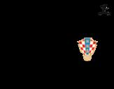 <span class='hidden-xs'>Coloriage de </span>Maillot de la coupe du monde 2014 de la Croatie à colorier