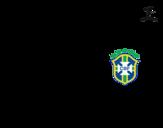 <span class='hidden-xs'>Coloriage de </span>Maillot de la coupe du monde 2014 du Brésil à colorier