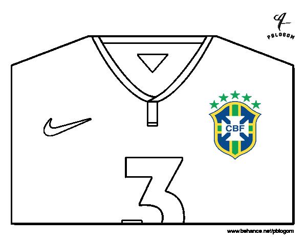 Coloriage de maillot de la coupe du monde 2014 du br sil pour colorier - Jeux de football coupe du monde 2014 ...