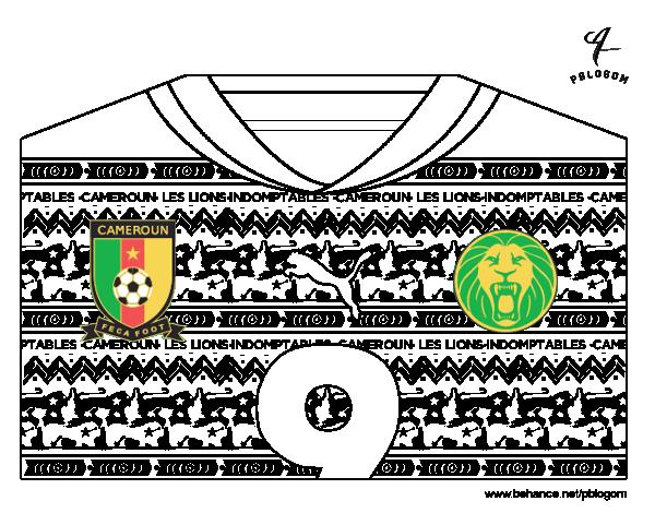 Coloriage de maillot de la coupe du monde 2014 du cameroun pour colorier - Jeux de football coupe du monde 2014 ...