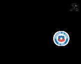 <span class='hidden-xs'>Coloriage de </span>Maillot de la coupe du monde 2014 du Chili à colorier