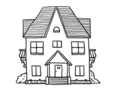 <span class='hidden-xs'>Coloriage de </span>Maison avec balcon à colorier