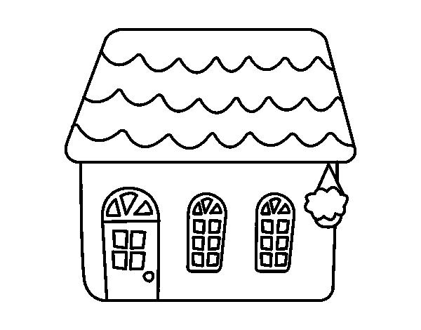 Coloriage de maison de conte pour colorier - Coloriage de conte ...