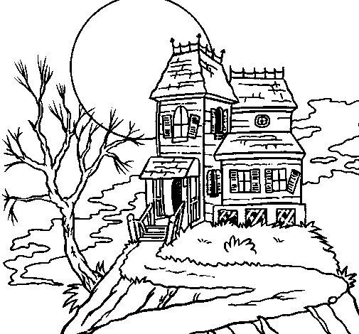 Coloriage de maison hant e pour colorier for Concevez et construisez votre propre maison en ligne