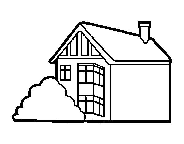 Coloriage de Maison moderne pour Colorier - Coloritou.com