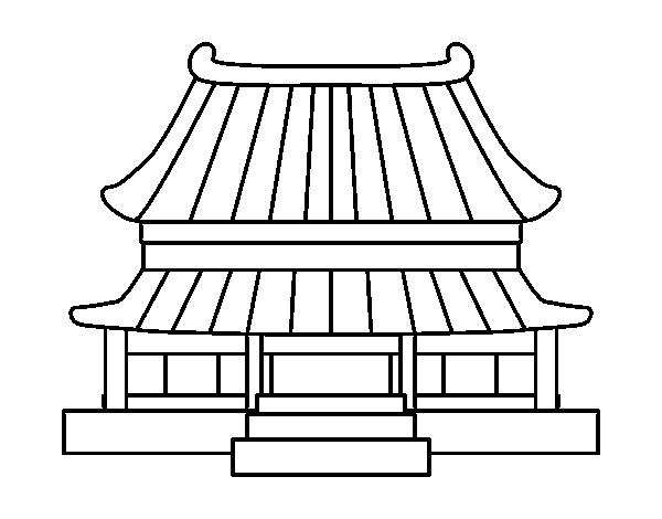Maison Chinoise Dessin Facile