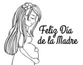 <span class='hidden-xs'>Coloriage de </span>Maman enceinte la fête des mères à colorier