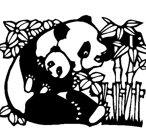 coloriage de maman panda pour colorier - Coloriage Pour Maman