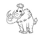 Dibujo de Mammouth préhistorique