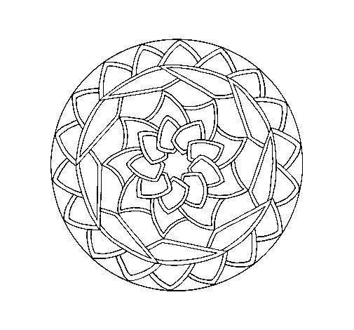 Coloriage de Mandala 1 pour Colorier
