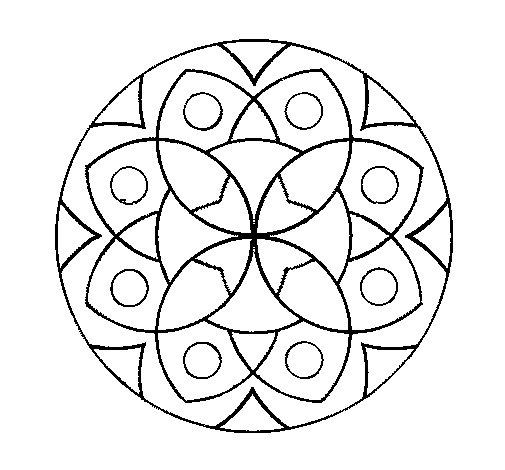 Coloriage de Mandala 13 pour Colorier