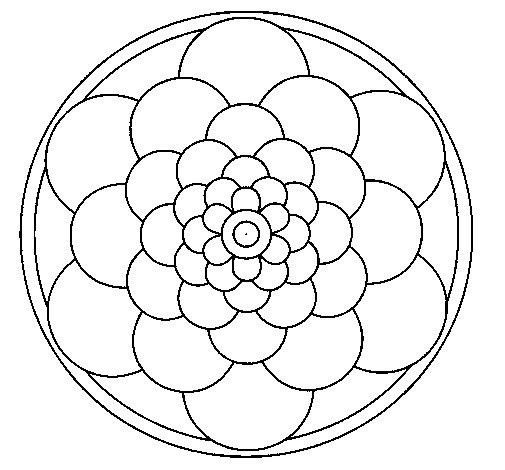 Coloriage de Mandala 22 pour Colorier