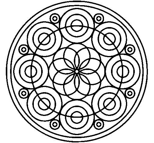 Coloriage de Mandala 35 pour Colorier