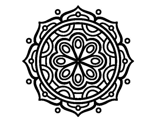 Coloriage de Mandala à méditer pour Colorier