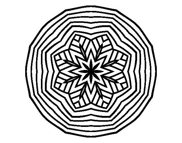 Coloriage de Mandala aérienne pour Colorier