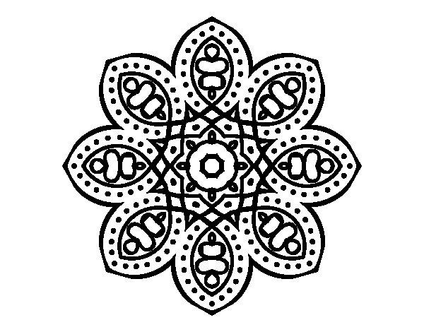 Coloriage de Mandala arabe pour Colorier