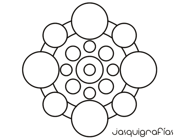Coloriage de mandala avec le cycle pour colorier - Mandalas cycle 3 ...