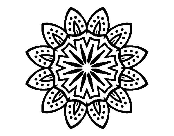 Coloriage de Mandala avec pétales pour Colorier