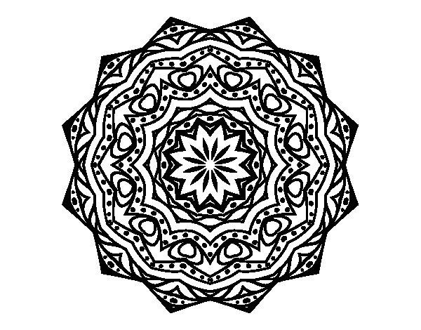 Coloriage de Mandala avec strate pour Colorier