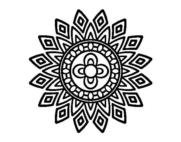 Coloriage de Mandala clignote pour Colorier