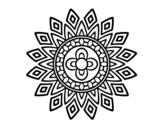 <span class='hidden-xs'>Coloriage de </span>Mandala clignote à colorier