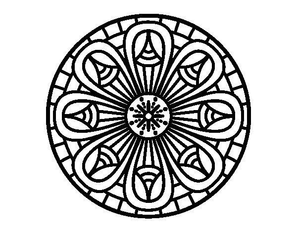 Coloriage de Mandala crayons pour Colorier