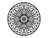 <span class='hidden-xs'>Coloriage de </span>Mandala crayons à colorier