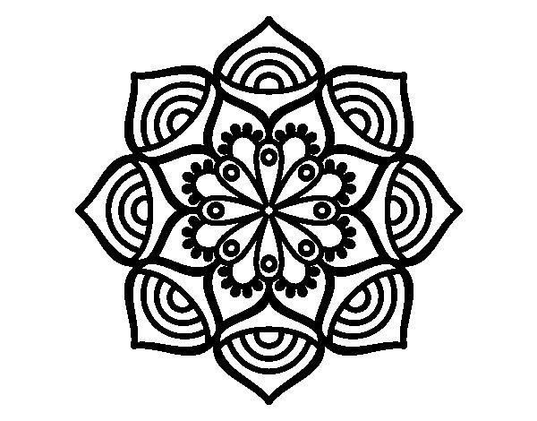 Coloriage de Mandala croissance exponentielle pour Colorier