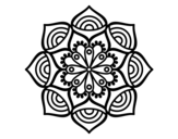 <span class='hidden-xs'>Coloriage de </span>Mandala croissance exponentielle à colorier