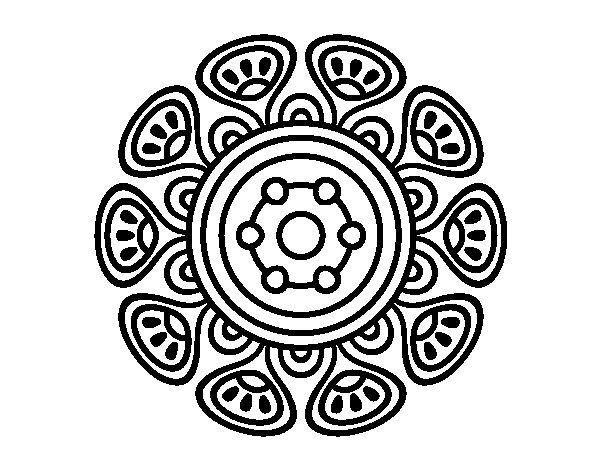 Coloriage de Mandala croissance vegetal pour Colorier