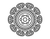 <span class='hidden-xs'>Coloriage de </span>Mandala croissance vegetal à colorier