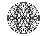 <span class='hidden-xs'>Coloriage de </span>Mandala crop circle à colorier