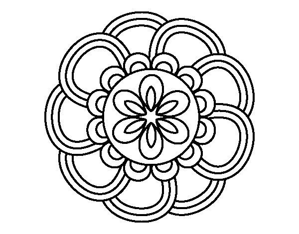 Coloriage de Mandala de pétales pour Colorier